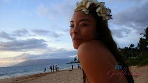 Jamie looks beautiful on the beach and underwater